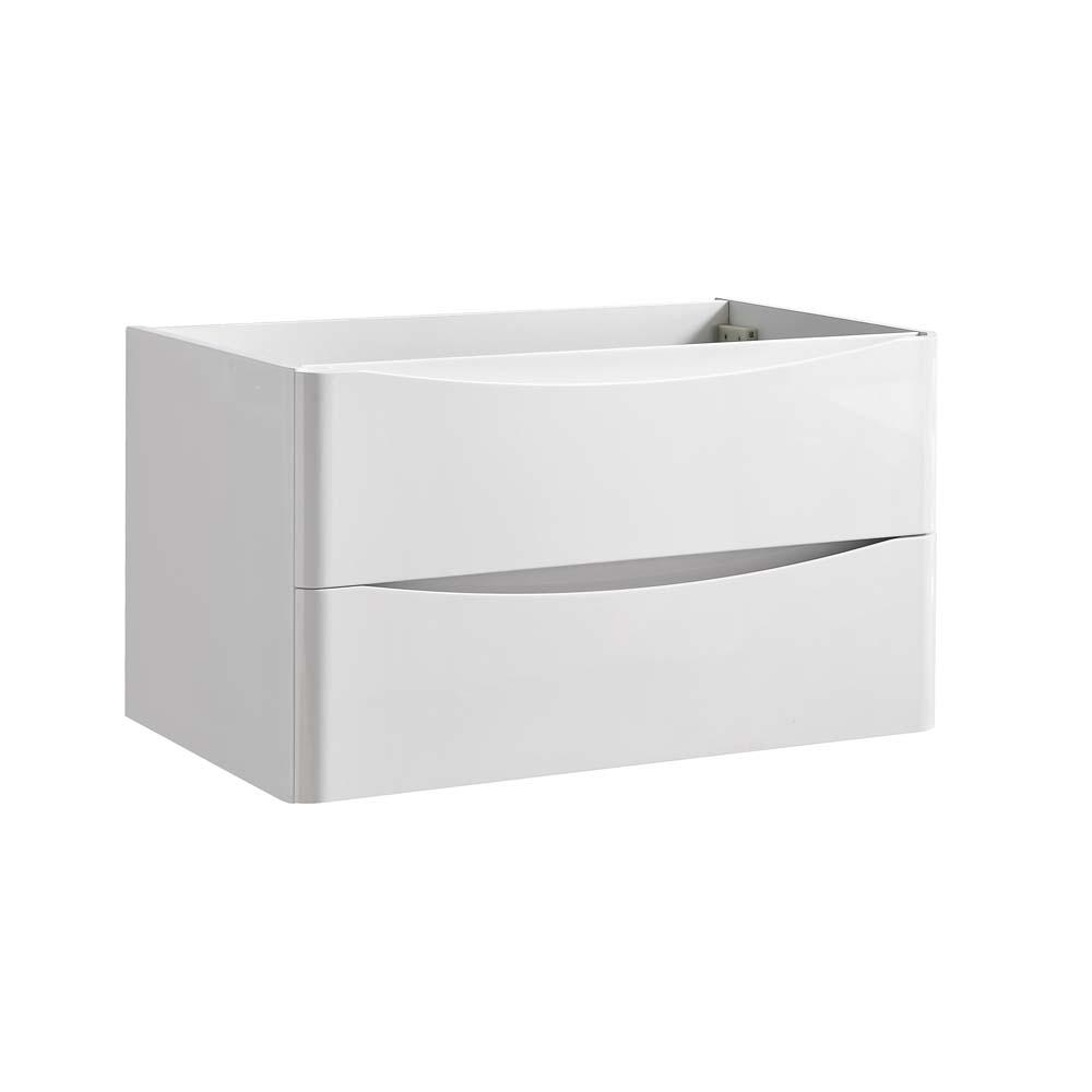Tuscany 32 In Modern Wall Hung Bath Vanity Cabinet Only Glossy White