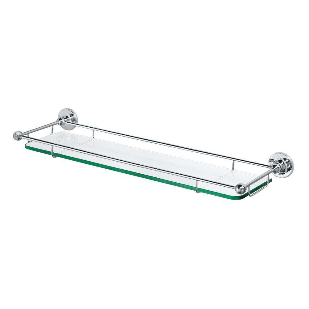 6 in. L x 2.2 in. H x 22 in. W Premier Railing Bathroom Shelf in Chrome