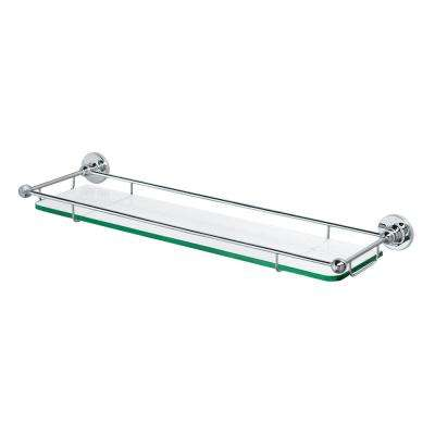6 in. L x 2.2 in. H x 22 in. W Premier Railing Bathroom Shelf in Chrome