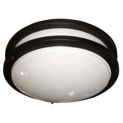 1-Light Oil Rubbed Bronze Flushmount