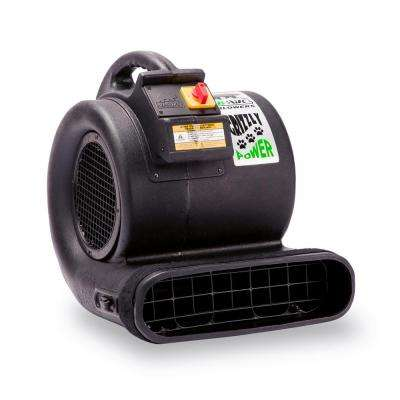 1 HP 3550 CFM Air Mover for Water Damage Restoration Carpet Dryer Floor Blower Fan, Black