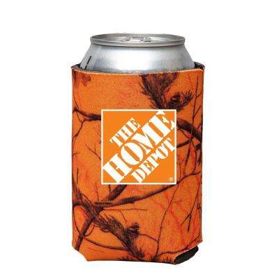 Can Cooler in Orange Camo