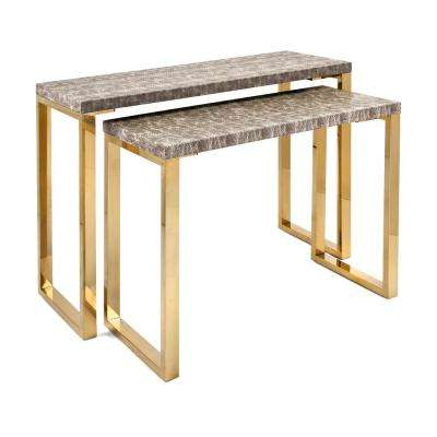 Virdigris Console Tables (2-Pack)