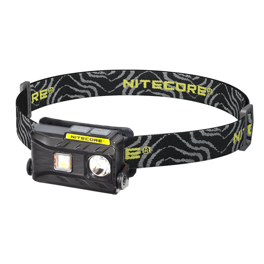 NU Series 360-Lumen LED Rechargeable Headlamp with White Red Reading Light