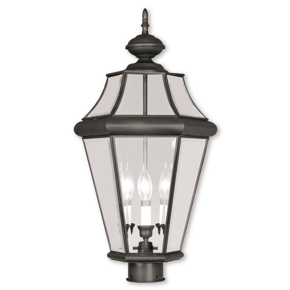 Providence 3-Light Bronze Outdoor Incandescent Post Lantern