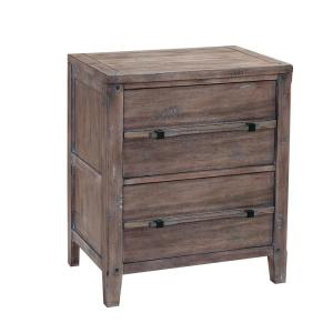 Aurora 2-Drawer Weathered Gray Nightstand