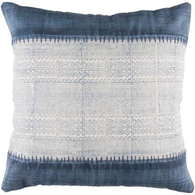 Tajo Navy Graphic Polyester 3In. x 3In. Throw Pillow