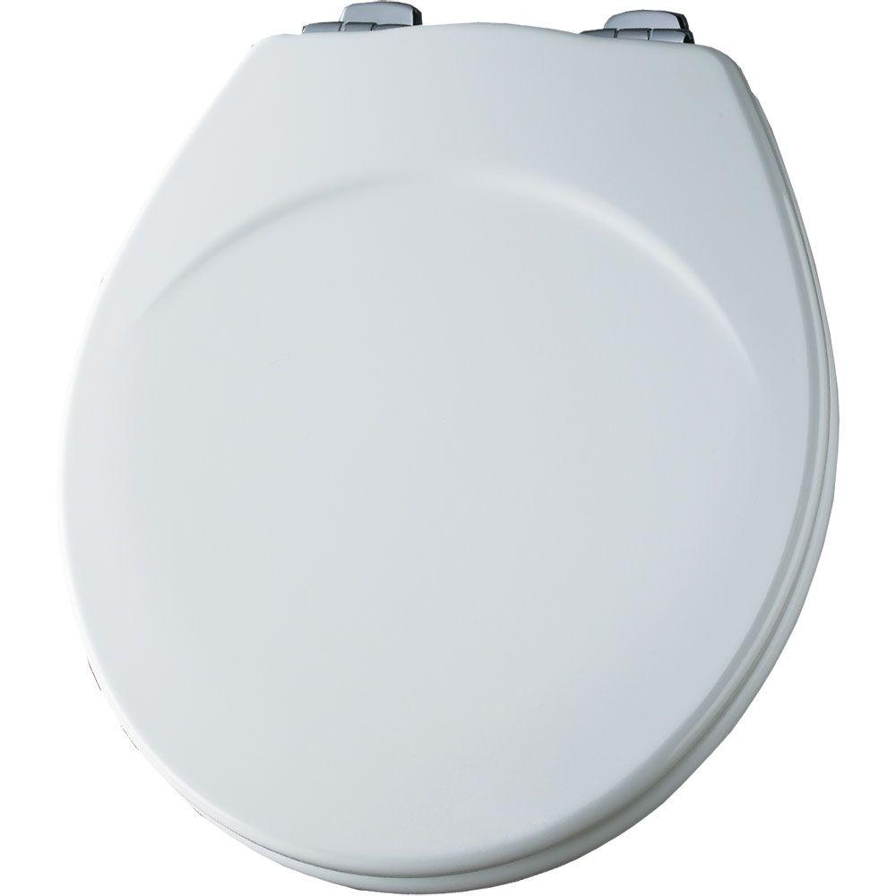 BEMIS STA-TITE Round Closed Front Toilet Seat in White