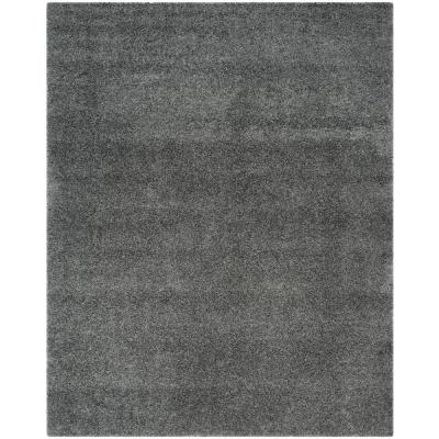 Laguna Shag Dark Gray 9 ft. x 12 ft. Area Rug