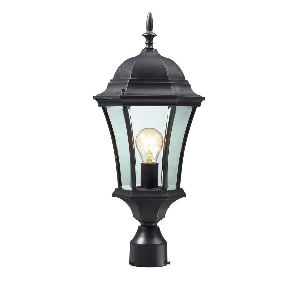 Lawrence 1-Light Outdoor Black Incandescent Post Light