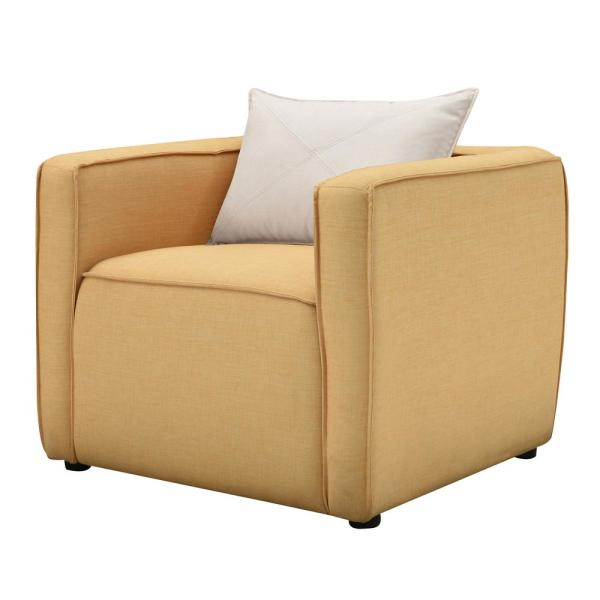 Absalon Yellow Low-Back Accent Chair