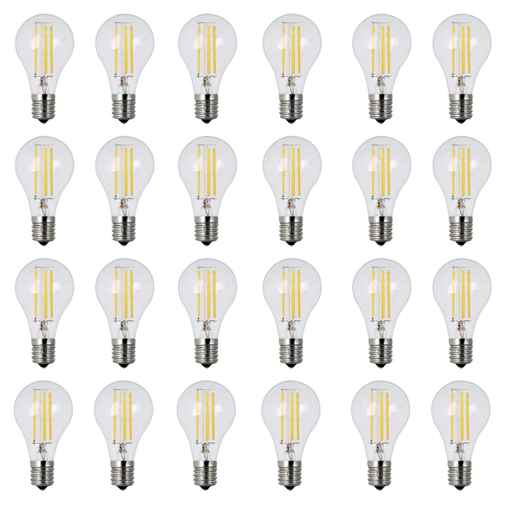 Feit Electric 60W Equivalent Soft White (2700K) A15 Intermediate Dimmable  Filament Clear Glass LED Ceiling Fan Light Bulb (24-Pack)