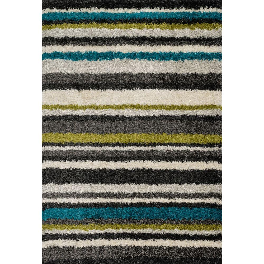Loloi Rugs Cosma Lifestyle Collection Green/Multi 3 ft. 9 in. x 5 ft. 6 in. Area Rug
