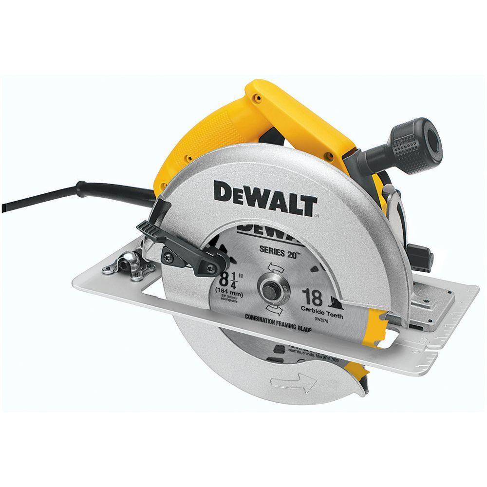 Dewalt 8 14 in 210 mm circular saw with rear pivot depth of cut 210 mm circular saw with rear greentooth Images