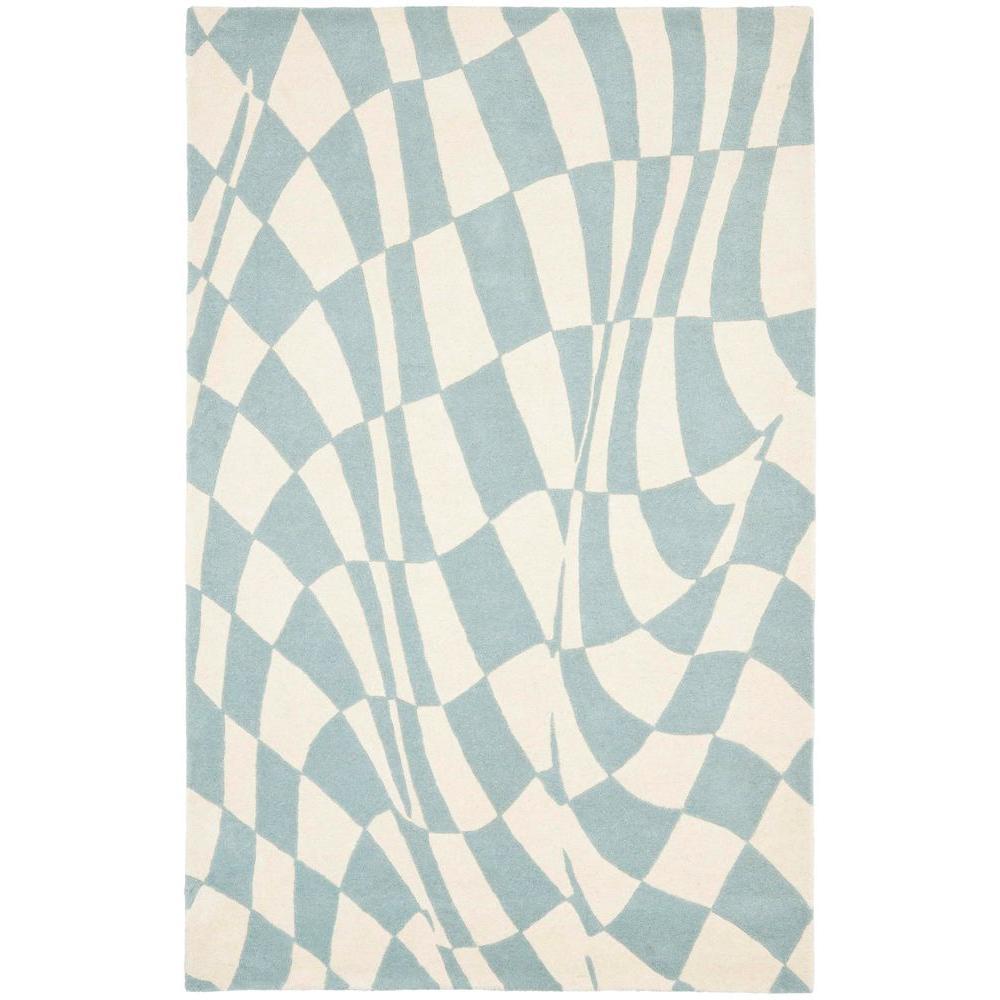 Soho Blue/Ivory 3 ft. 6 in. x 5 ft. 6 in.