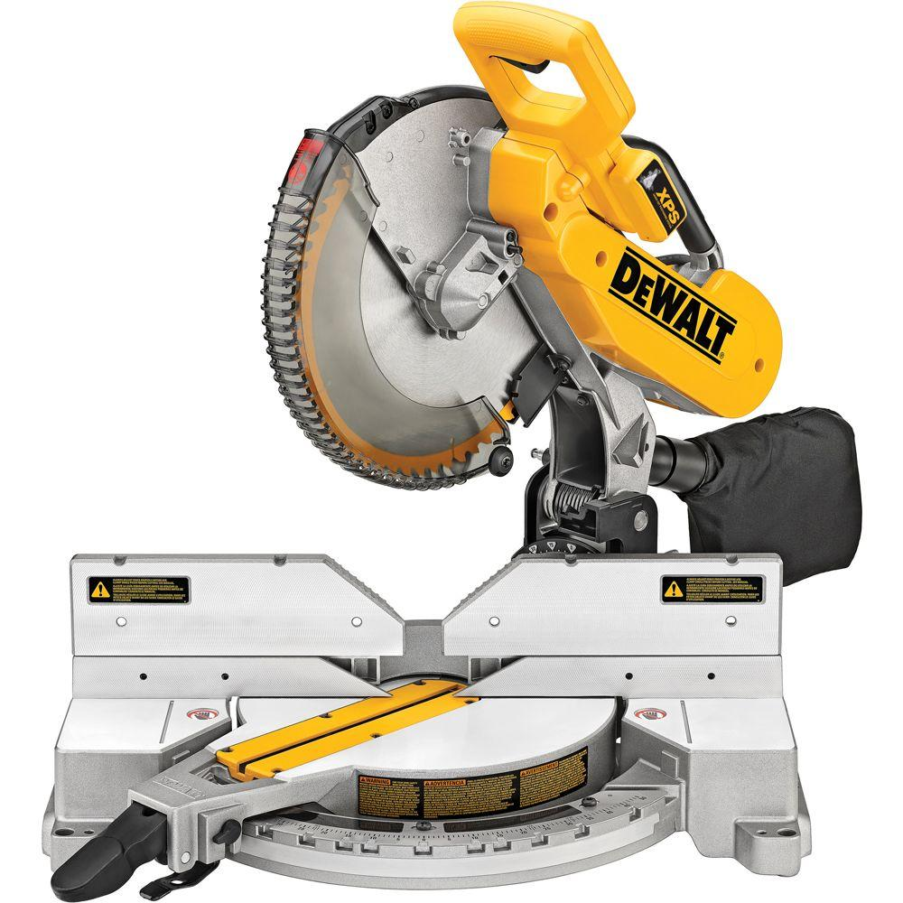 Dewalt 15 Amp Corded 12 In Double Bevel Compound Miter Saw With Xps Light Dw716xps The Home Depot