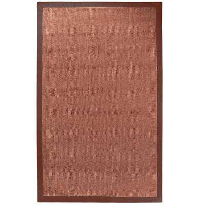 Chenille Sisal Coral 8 ft. x 10 ft. Area Rug