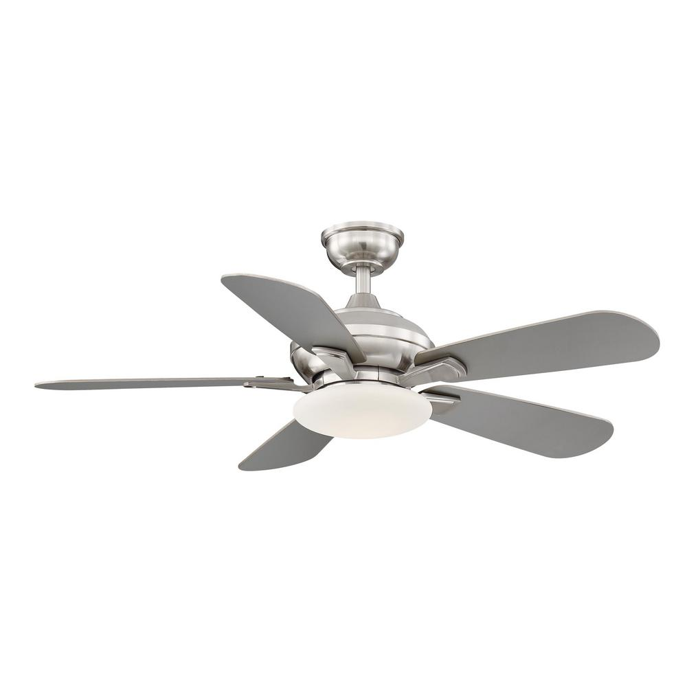 Home Decorators Collection Benson 44 in. LED Brushed Nickel Ceiling Fan with Light and Remote Control