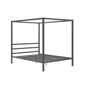3b2b26e9327 DHP Rory Metal Canopy Grey Queen Size Bed Frame-DE23556 - The Home Depot