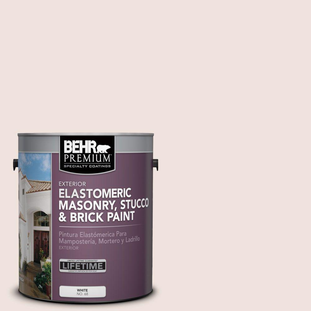 1 gal. #MS-01 White Onyx Elastomeric Masonry, Stucco and Brick Exterior