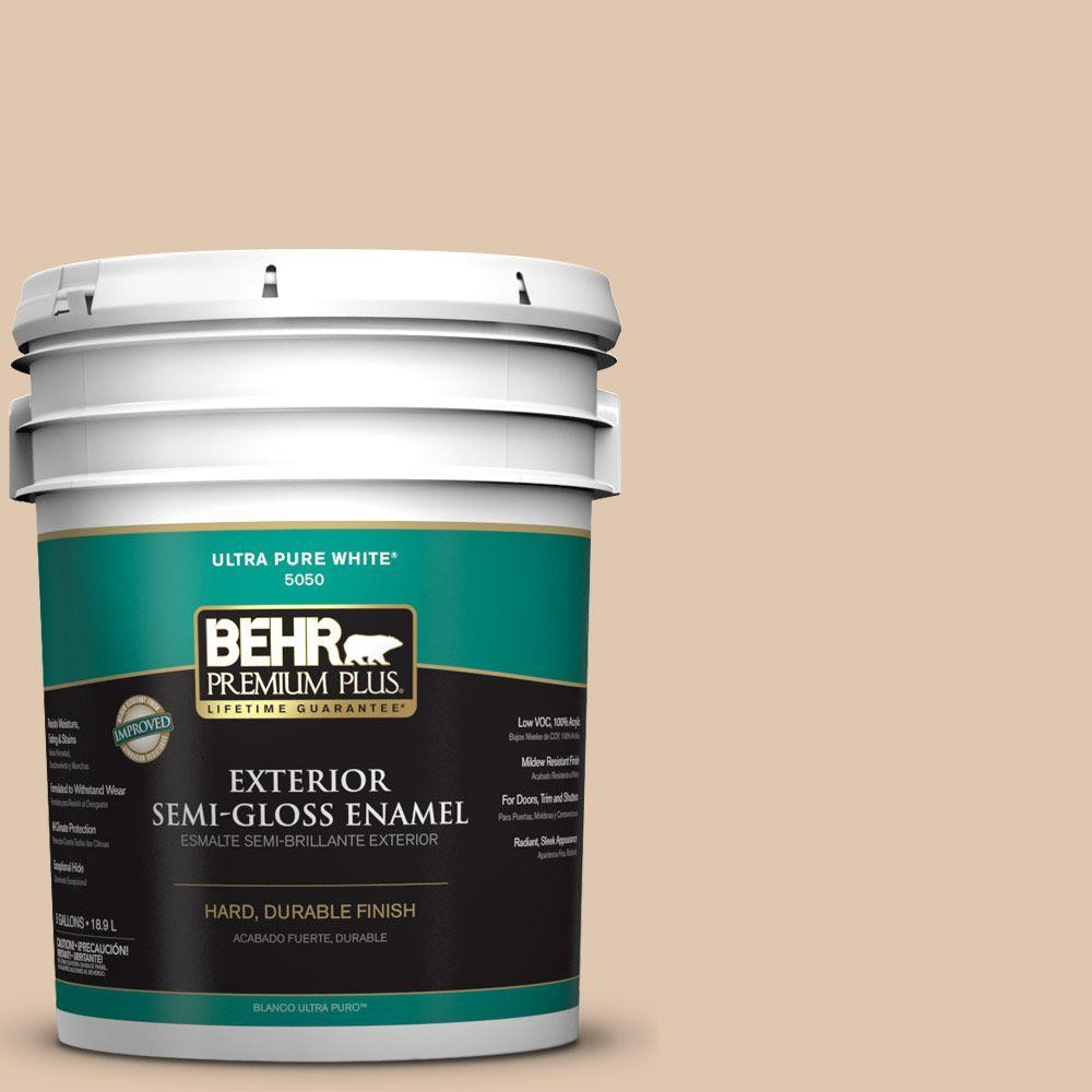 5-gal. #N260-2 Almond Latte Semi-Gloss Enamel Exterior Paint