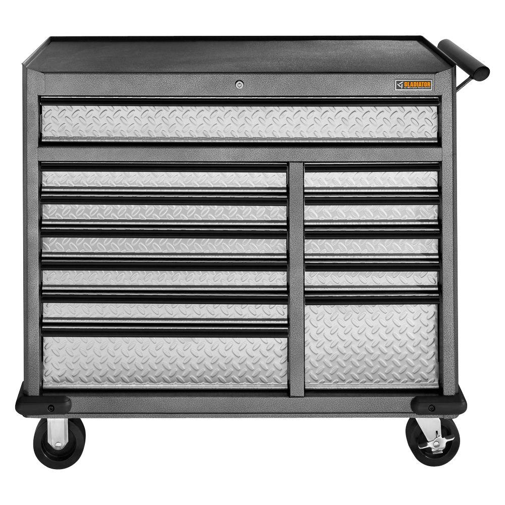Gladiator Premier Series 41 In W 12 Drawer Rolling Tool Chest Gatr4112wg The Home Depot