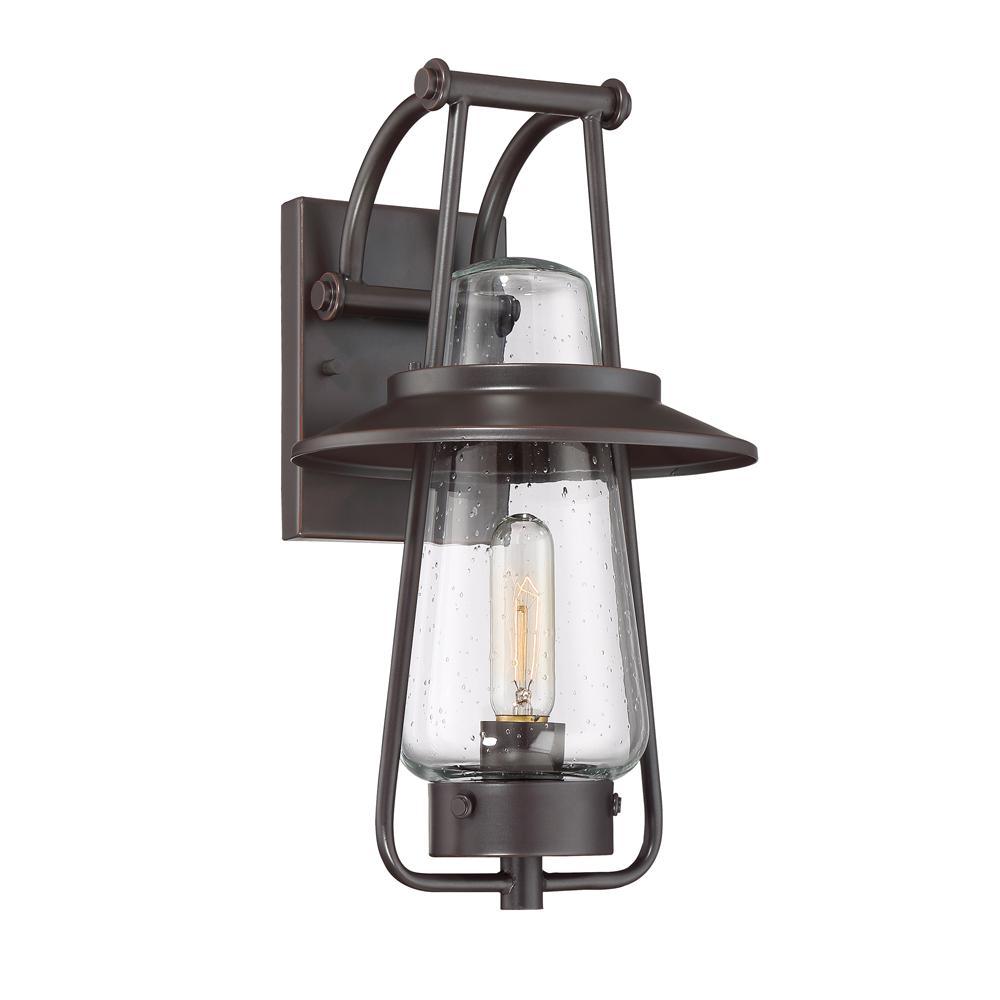 Stonyridge 1-Light Satin Bronze Outdoor Wall Lantern Sconce