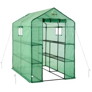 D Large Heavy Duty Walk In 2 Tier 8 Shelf Portable Lawn And Garden  Greenhouse OG4979 2T8   The Home Depot