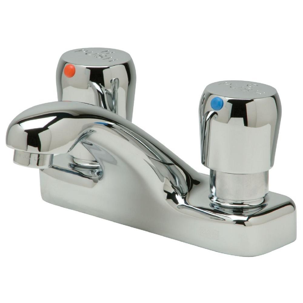 Zurn Aquasense 4 in. Centerset 2-Handle Bathroom Faucet in Chrome ...
