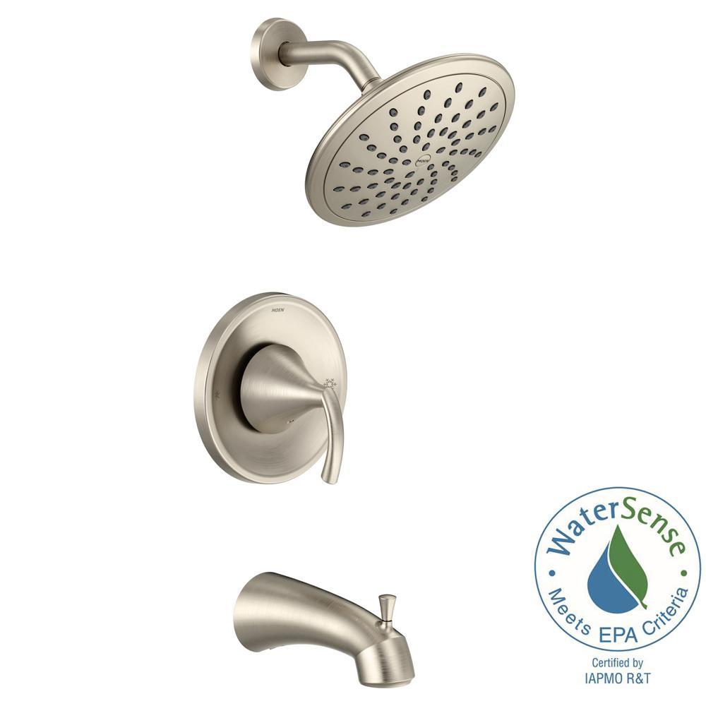 Moen Glyde Posi Temp Rain Shower 1 Handle Tub And Shower Faucet Trim