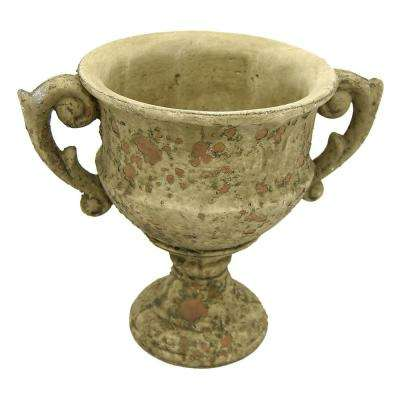 10 in. Large Gray Footed Urn