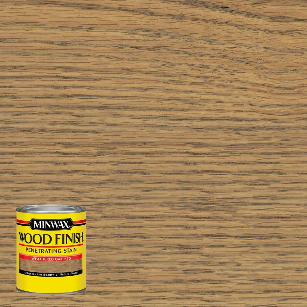 Merveilleux Wood Finish Weathered Oak Oil Based Interior Stain 227604444   The Home  Depot