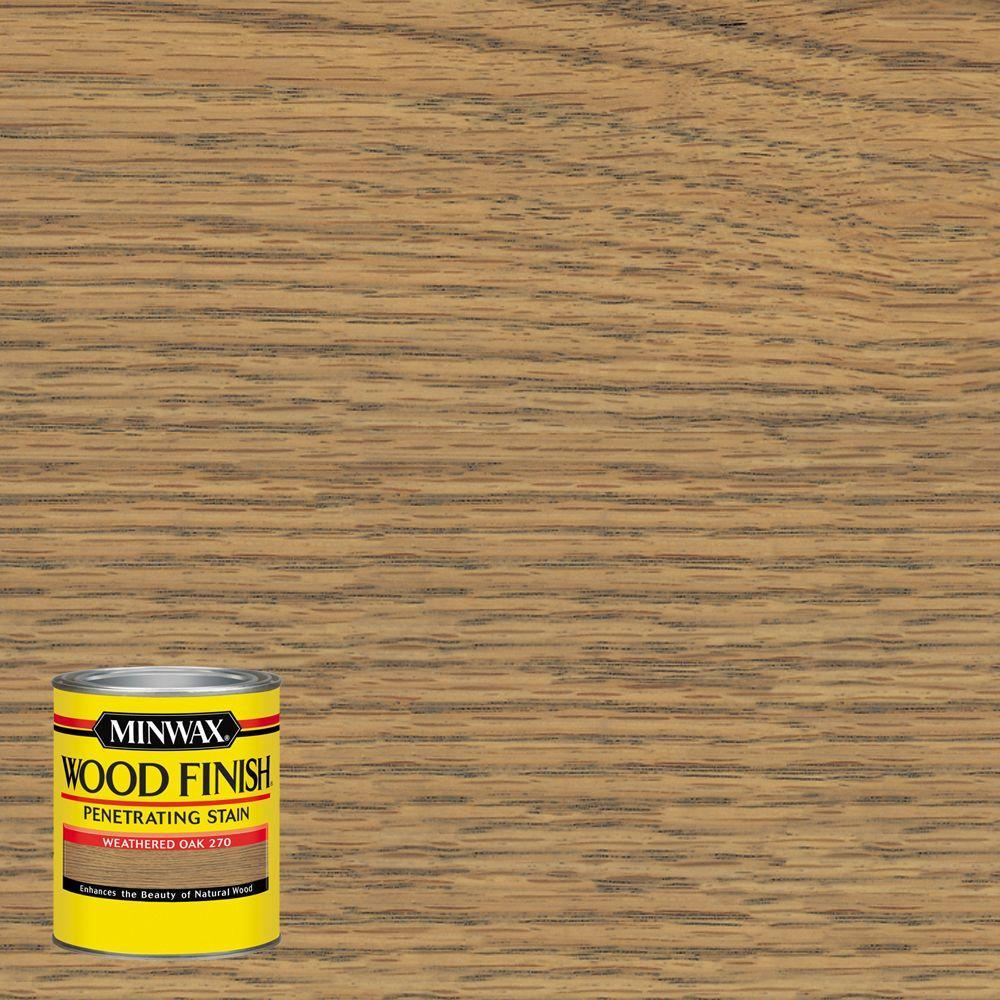 Minwax 8 Oz Wood Finish Weathered Oak Oil Based Interior