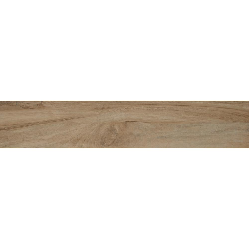 Aspenwood Amber 9 in. x 48 in. Glazed Porcelain Floor and