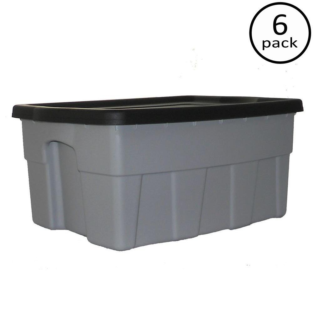 8 Gal Dura Box Storage Tote 6 Pack