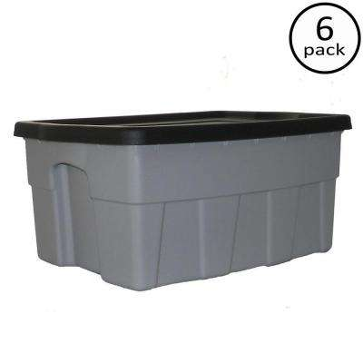 8 Gal. Dura Box Storage Tote (6-Pack)