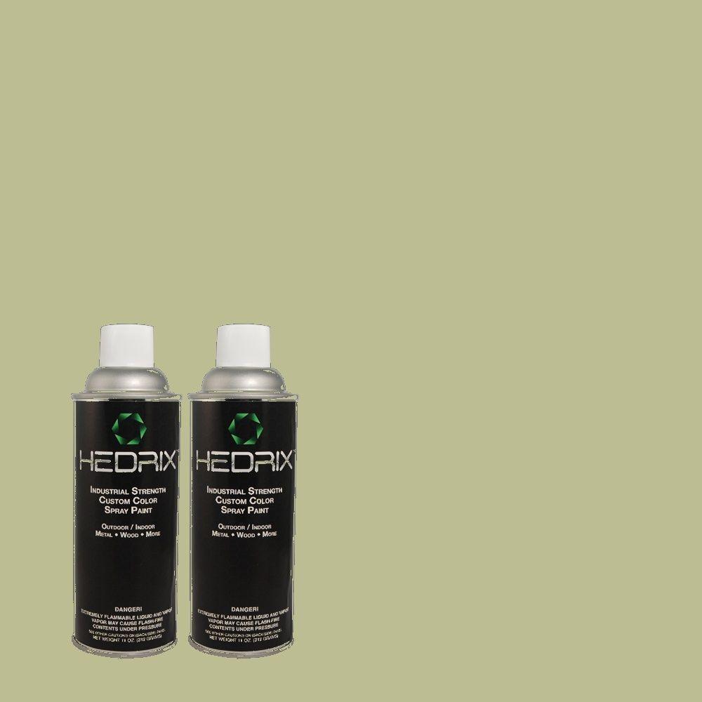 Hedrix 11 oz. Match of BHG-72 Patio Semi-Gloss Custom Spray Paint (2-Pack)