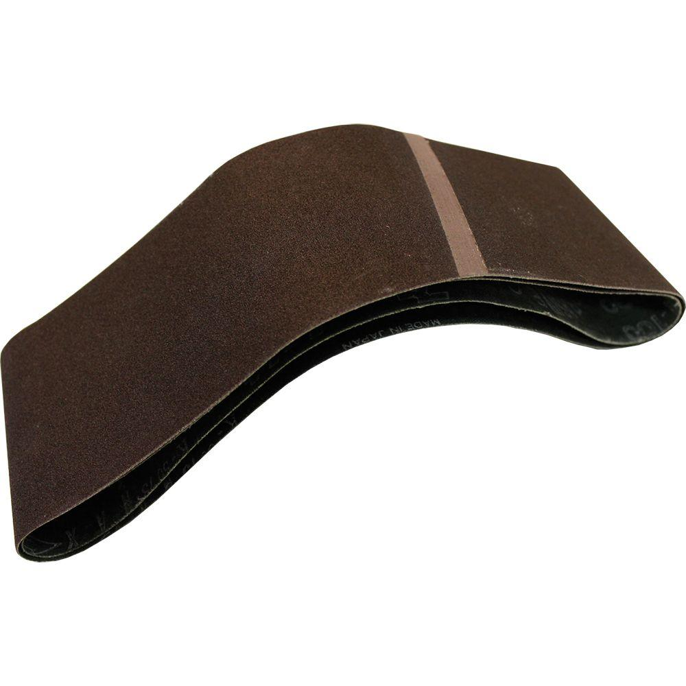 3 in. x 21 in. 100-Grit Abrasive Belt (2-Pack)