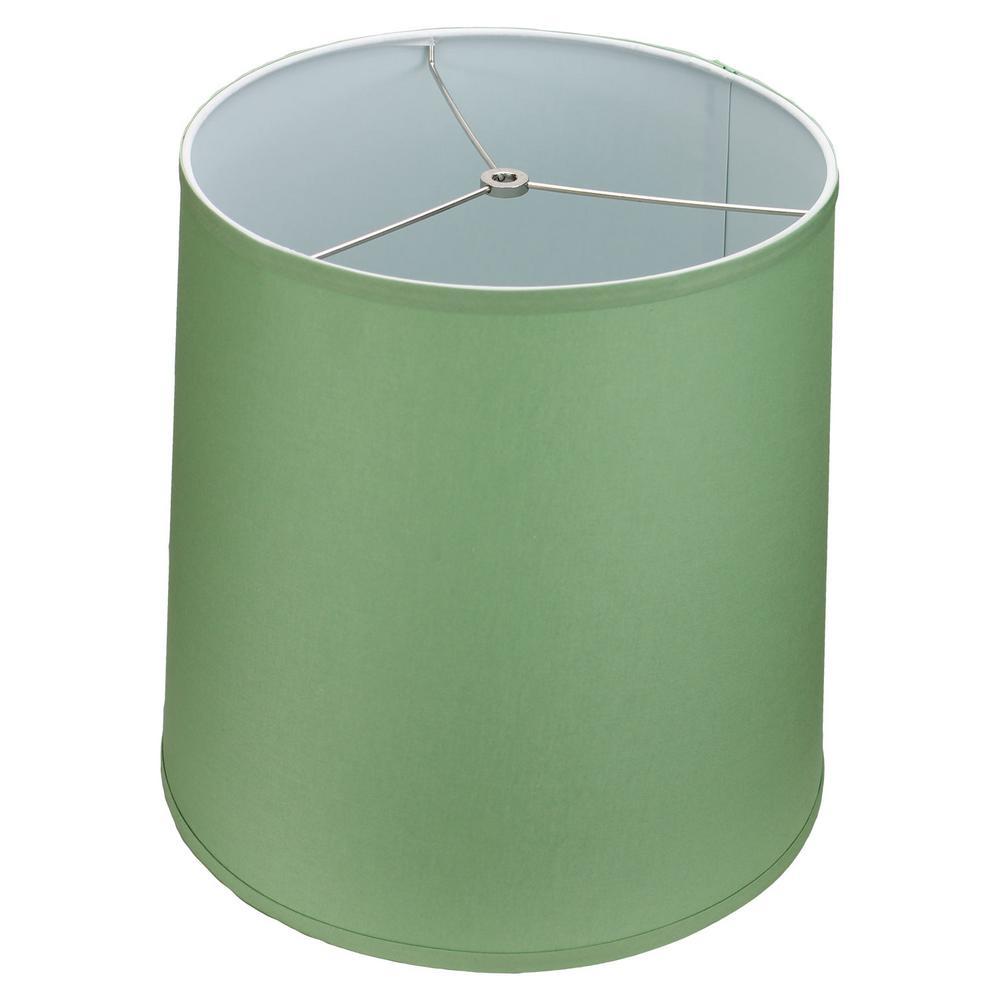 Fenchel Shades 13 in. Top Diameter x 15 in. Bottom Diameter x 15 in. Slant,  Empire Lamp Shade - Linen Celadon