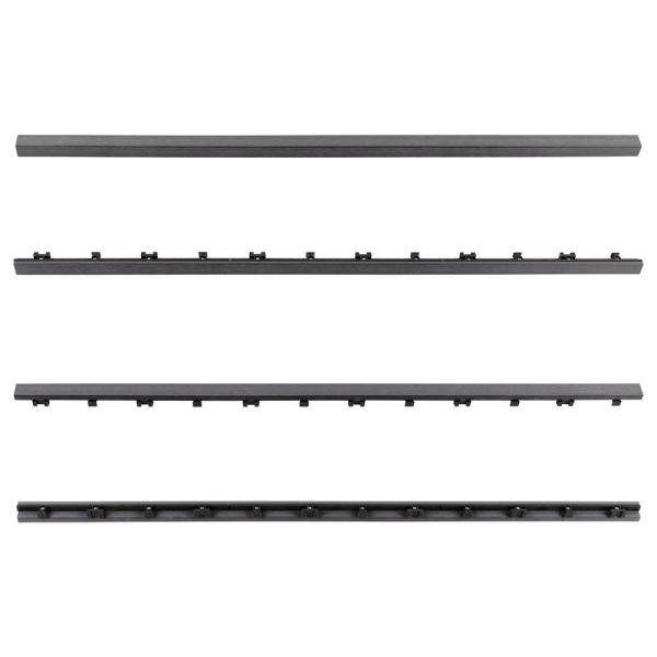 1/12 ft. x 3 ft. Quick Deck Composite Deck Tile Straight Trim in Westminster Gray (2-Pieces/Box)