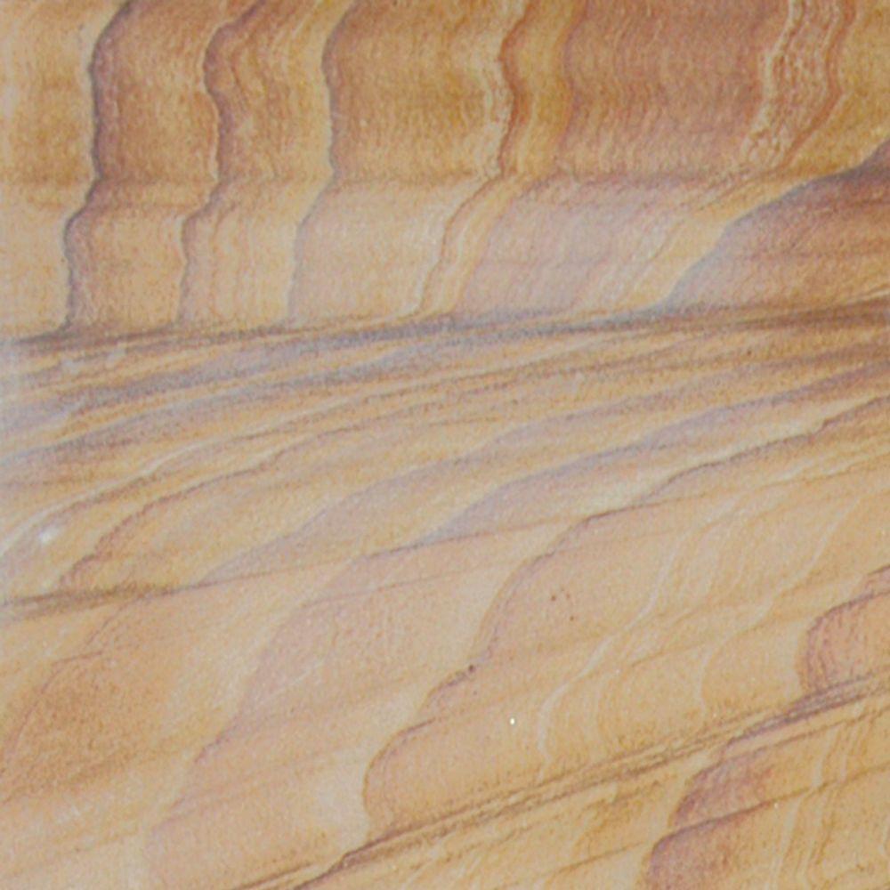 Rainbow Teakwood 12 in. x 12 in. Gauged Sandstone Floor and