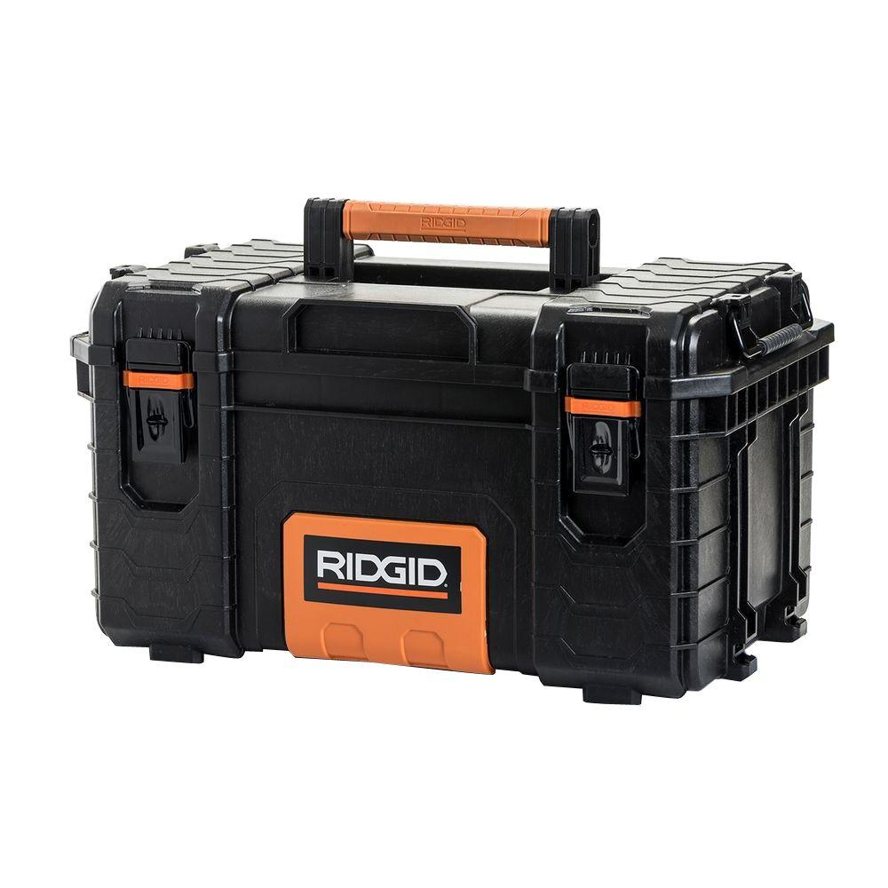 Ridgid 22 In Pro Tool Box Black 222570 The Home Depot