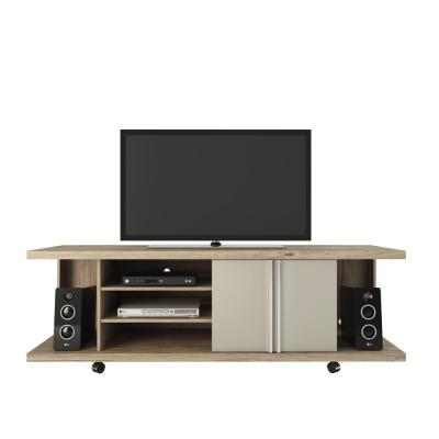Carnegie 5-Shelf Nature and Nude/ Pro Touch TV Stand