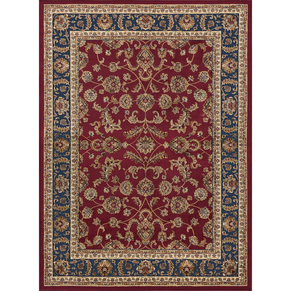 7x10 Rug: Tayse Rugs Sensation Red 7 Ft. X 10 Ft. Transitional Area
