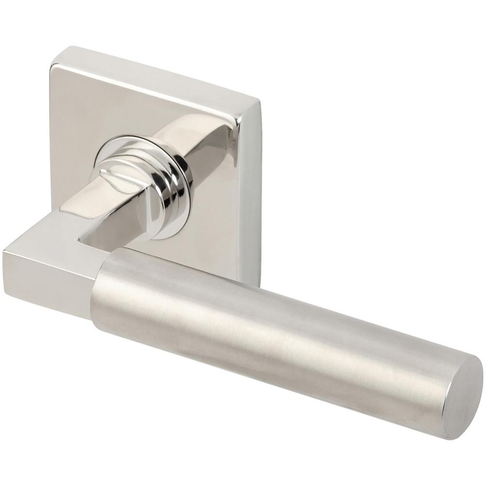 Aurora Series Square Stainless Steel Split Polished-Satin Right Handed Single