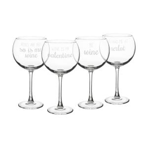 Valentine 19 oz. Red Wine Glasses (Set of 4) by