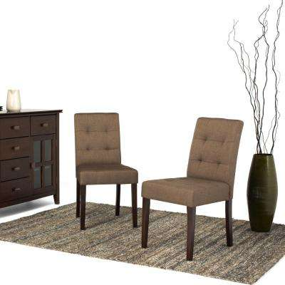 Andover Brown Fabric Dining Chair (Set of 2)