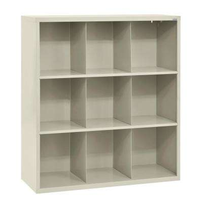 Cubby 46 in. x 52 in. Putty 9-Cube Organizer