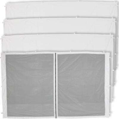 Zippered Sidewall and 3 Standard Sidewall Panels for 12 ft. x 12 ft. Straight Leg Canopy
