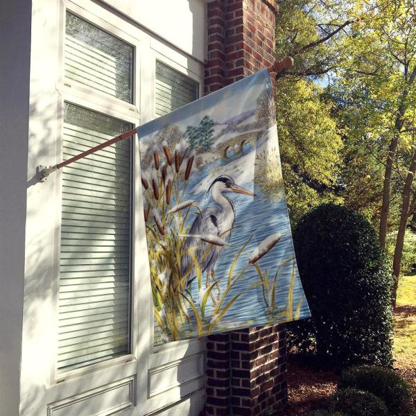 Caroline S Treasures 28 In X 40 In Polyester Blue Heron Flag Canvas House Size 2 Sided Heavyweight Asa2057chf The Home Depot